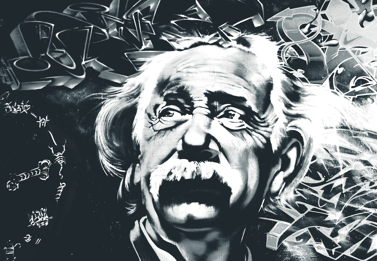 Dessin portrait Albert Einstein